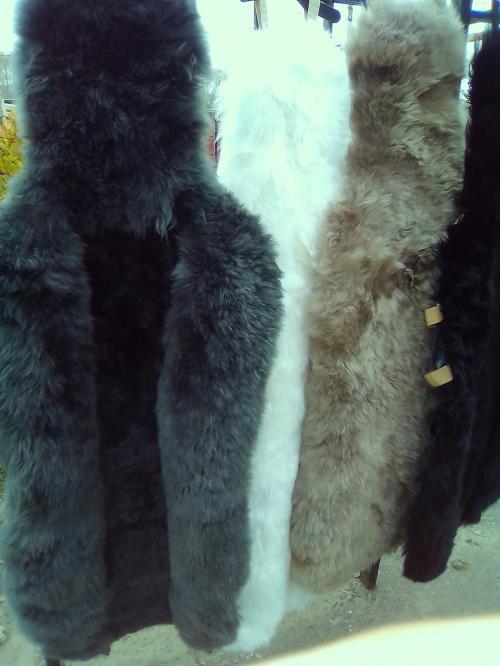 Накидки из натуральной овчины