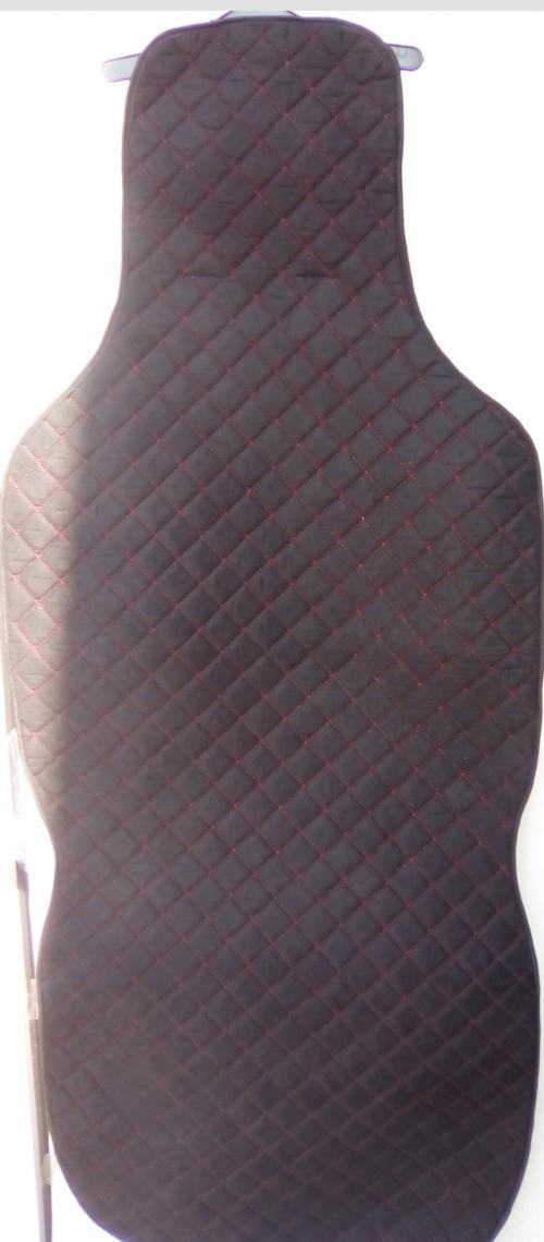 Алькан-тара чёрные, красная прострочка