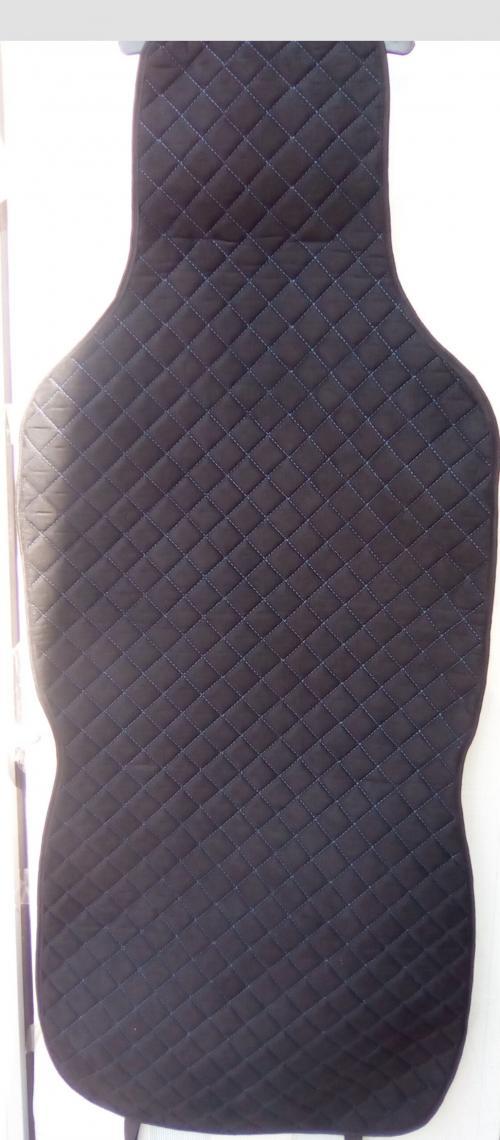 Алькан-тара чёрные, синяя прострочка